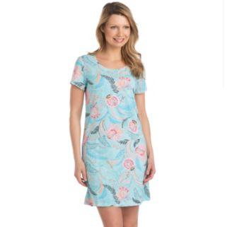 Women's Jockey Pajamas: Marakesh Floral Print Sleep Shirt
