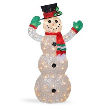 National Tree Company 48-in. Pre-Lit Sisal Snowman Christmas Decor