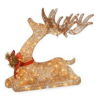 National Tree Company 31-in. Pre-Lit Sisal Deer Christmas Decor