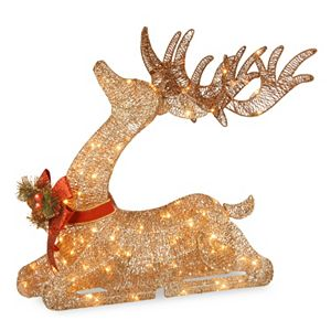 National Tree Company 31-in. Pre-Lit Sisal Deer Christmas Decor