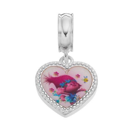 DreamWorks Trolls Sterling Silver Poppy & Branch Heart Charm