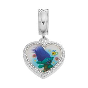 DreamWorks Trolls Sterling Silver Poppy & Branch Heart Charm