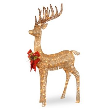 National Tree Company 48-in. Pre-Lit Sisal Standing Deer Christmas Decor