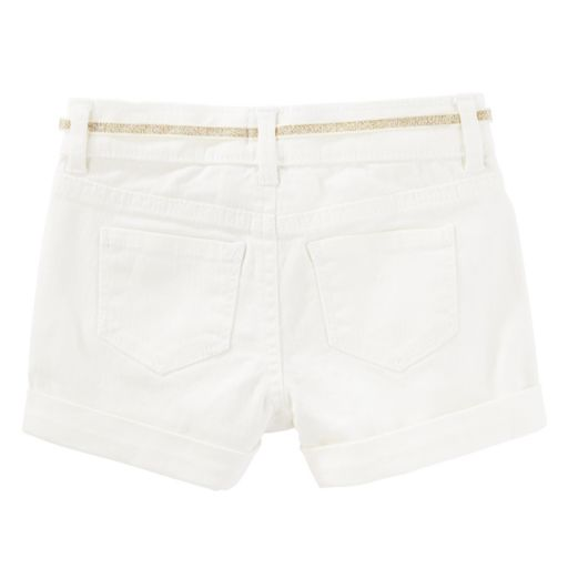 Toddler Girl OshKosh B'gosh® White Twill Roll-Cuff Shorts