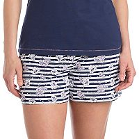 Women's Jockey Pajamas: Floral Striped Boxer Shorts