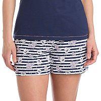 Women's Jockey Pajamas: Floral Striped Boxer Shorts