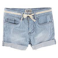 Toddler Girl OshKosh B'gosh® Hickory Stripe Cuffed Shorts