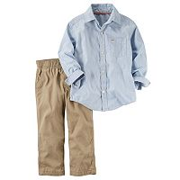 Baby Boy Carter's Striped Shirt & Khaki Pants Set