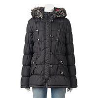 Juniors' Urban Republic Hooded Faux-Fur Anorak Jacket