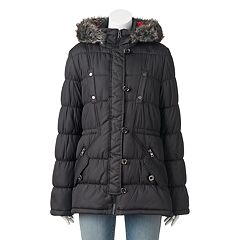 Juniors' Urban Republic Hooded Faux-Fur Anorak Jacket