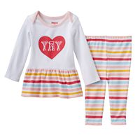 Baby Girl Skip Hop Embroidered Graphic Tunic & Leggings Set