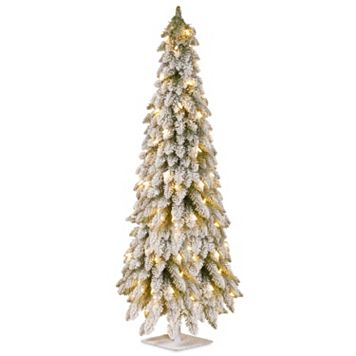 National Tree Company 60-in. Snowy Pre-Lit Artificial Christmas Tree