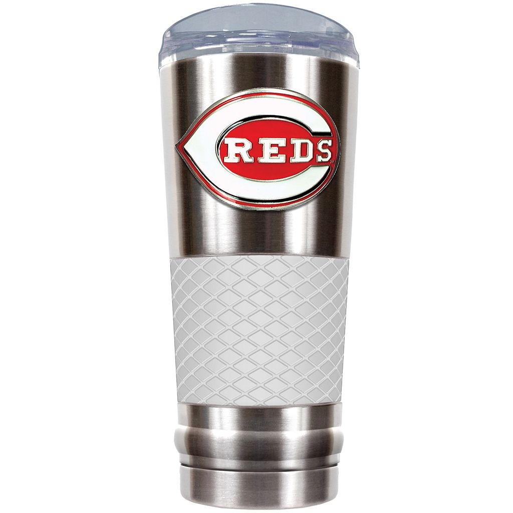 Cincinnati Reds 24-Ounce Draft Stainless Steel Tumbler