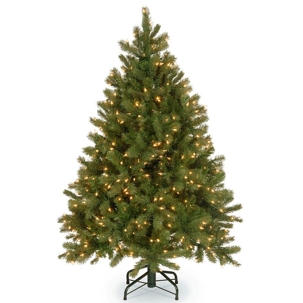 National Tree Company 4.5-ft. Douglas Fir Hinged Warm White Pre-Lit Artificial Christmas Tree