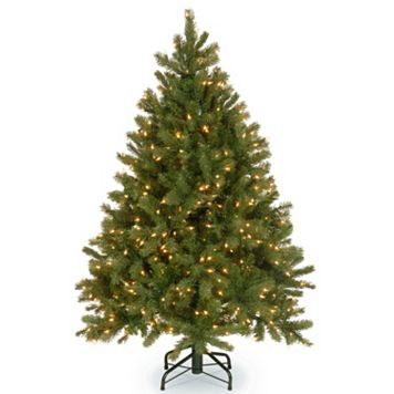 National Tree Company 4.5-ft. Douglas Fir Hinged Warm White Pre-Lit Artificial Christmas Tree
