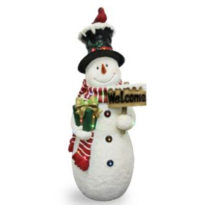 "National Tree Company 28.5-in. Pre-Lit ""Welcome"" Snowman Christmas Decor"