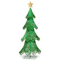 National Tree Company 60-in. Pre-Lit Sisal Christmas Tree Decor