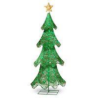 National Tree Company 60-in. Pre-Lit Sisal Christmas Tree Decor