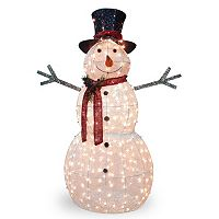 National Tree Company 60-in. Pre-Lit Sisal Snowman Indoor / Outdoor Decor
