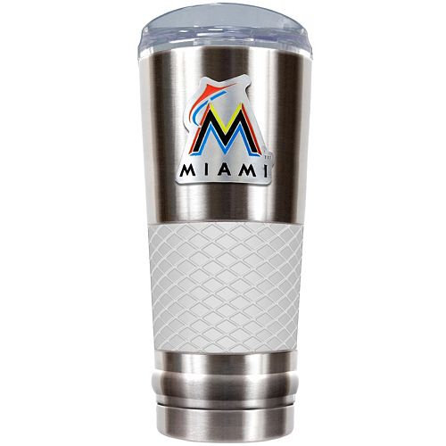 Miami Marlins 24-Ounce Draft Stainless Steel Tumbler