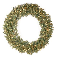 National Tree Company 48 in Douglas Fir Pre-Lit Artificial Christmas Wreath