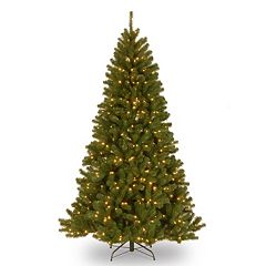 National Tree Company 7-ft. North Valley Spruce Hinged Pre-Lit Artificial Christmas Tree
