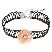 Mudd® Pink Flower Lace Choker Necklace
