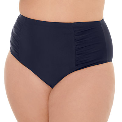 Juniors' Plus Size Costa Del Sol Solid High-Waisted Bikini Bottoms