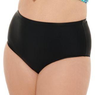 Juniors' Plus Size Costa Del Sol High-Waisted Bikini Bottoms