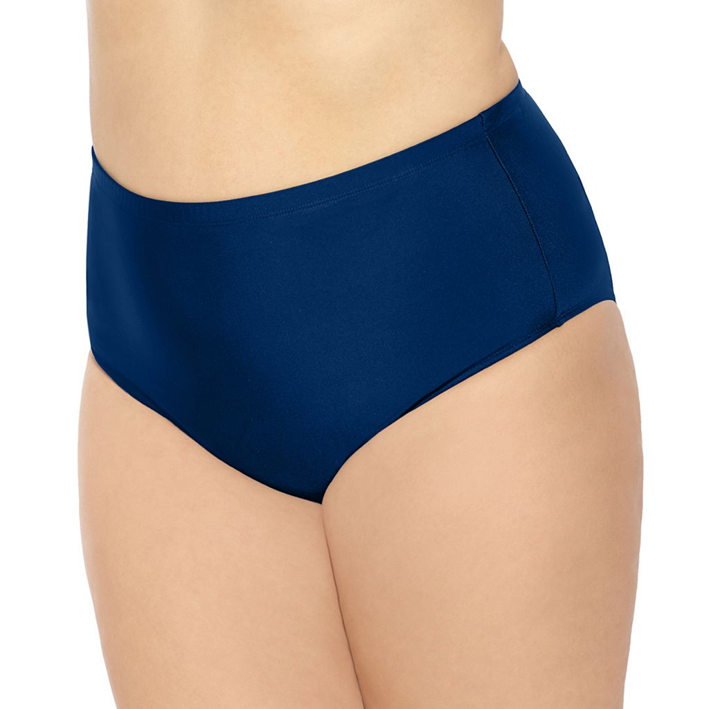 Juniors' Plus Size Costa Del Sol High-Waisted Bikini Bottoms