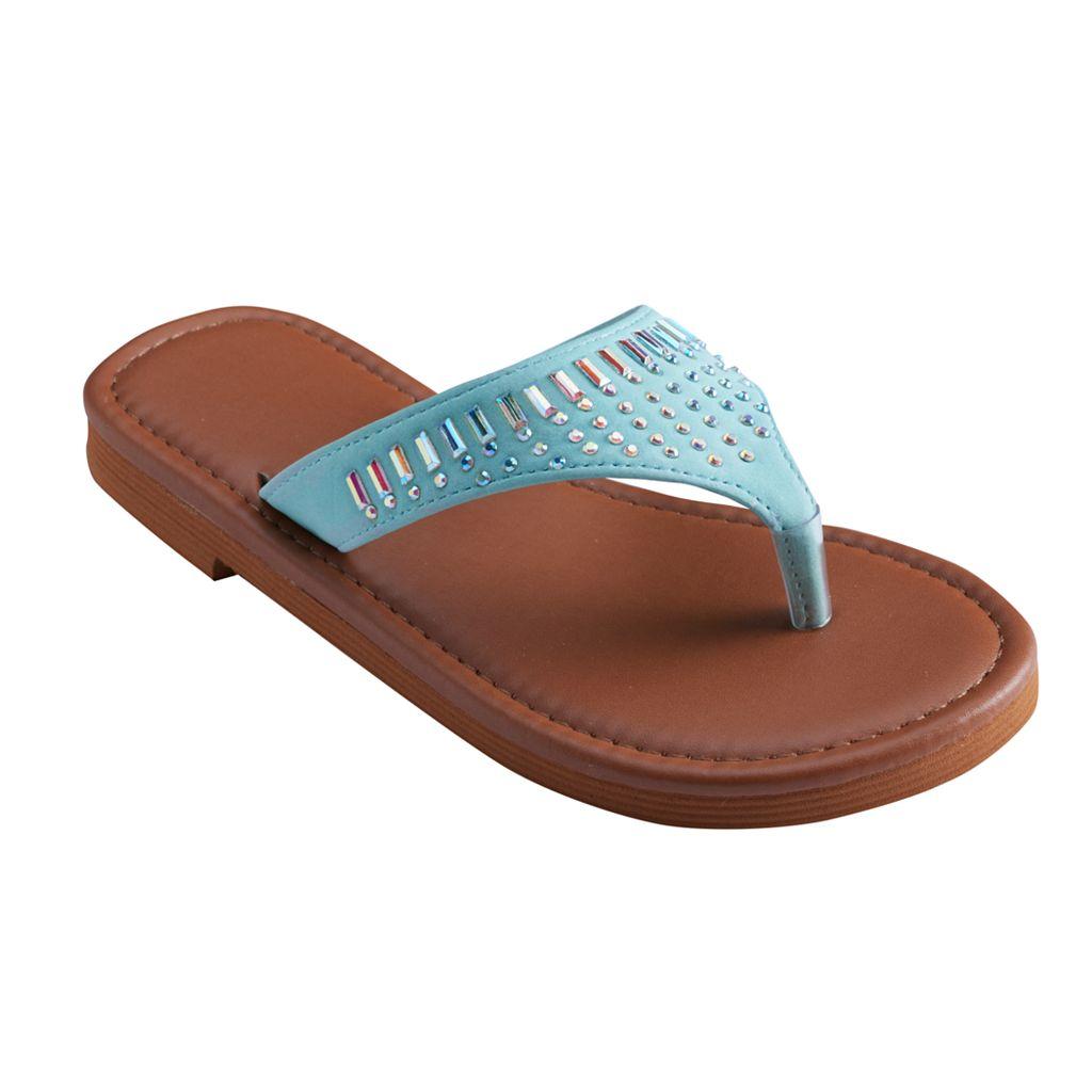 Girls 4-16 Gem Flip Flops