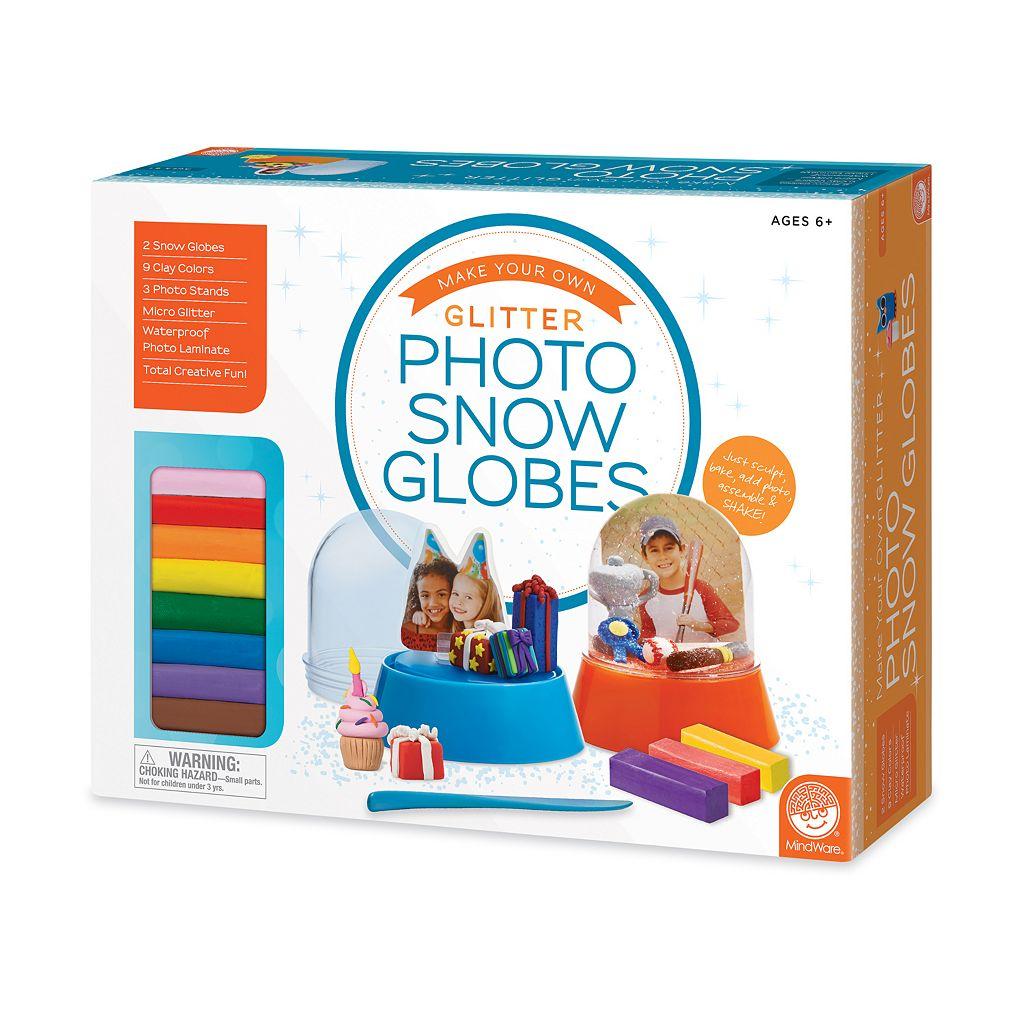MindWare Make Your Own Glitter Photo Snow Globes Set