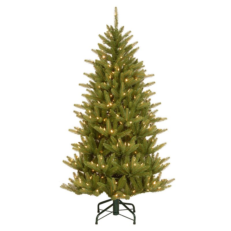 National Tree Company 4.5-ft. Natural Fraser Slim Pre-Lit Artificial Christmas Tree, Green