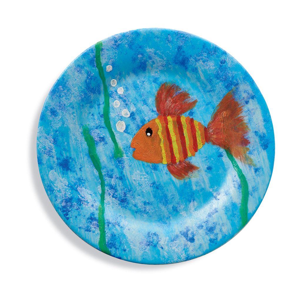 MindWare Paint Your Own Porcelain Plates Set