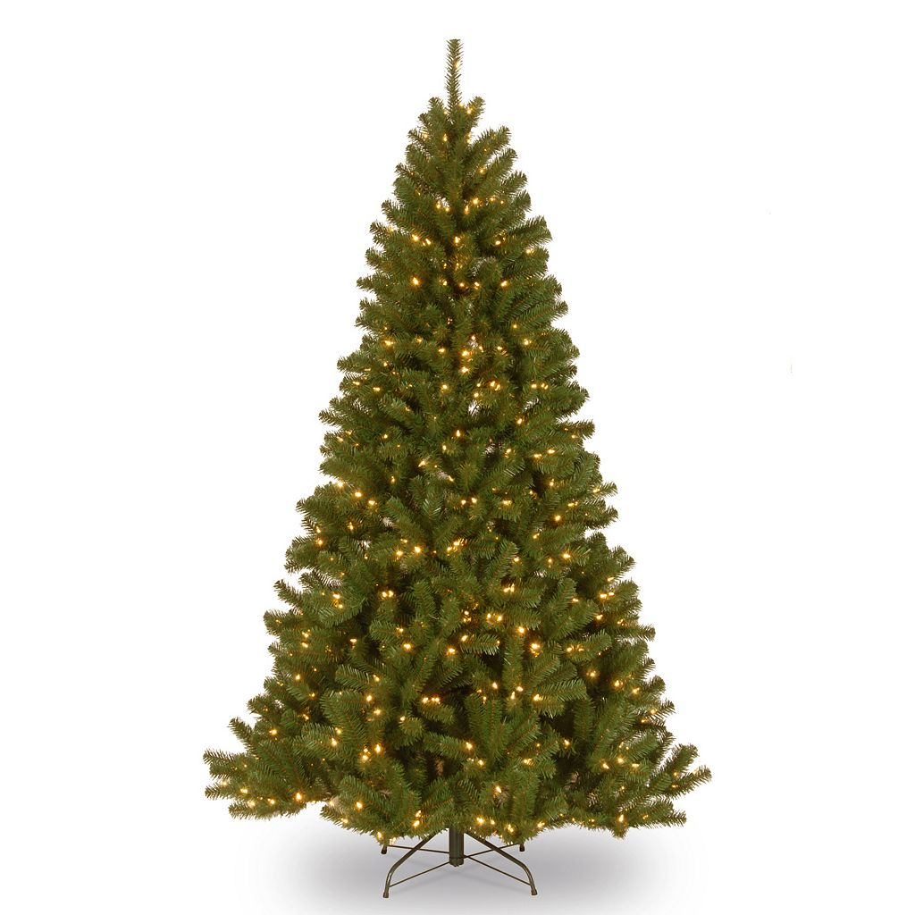 National Tree Company 6.5-ft. North Valley Spruce Hinged Pre-Lit Artificial Christmas Tree