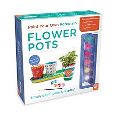 MindWare Paint Your Own Porcelain Flower Pots Set