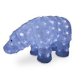 National Tree Company 8-in. Pre-Lit Bear Indoor / Outdoor Decor