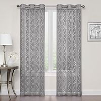 Regent Court Asbury Clipped Sheer Window Curtain Set