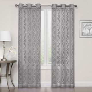 Regent Court 2-pack Asbury Clipped Sheer Curtain