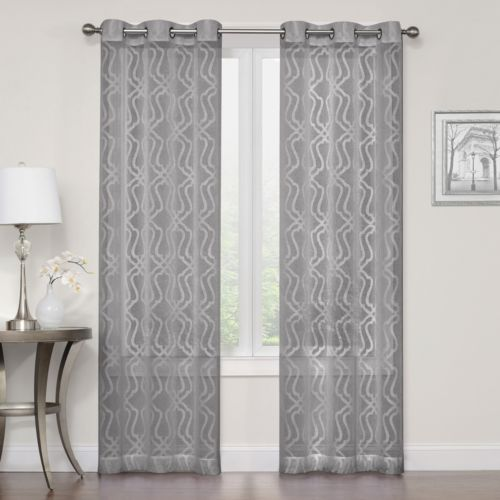 grey regent court curtains & drapes - window treatments, home