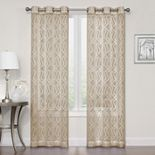 SONOMA Goods for Life® 2-pack Asbury Clipped Sheer Window Curtains