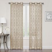 SONOMA Goods for Life™ 2-pack Asbury Clipped Sheer Window Curtains