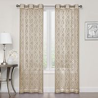 Regent Court 2-pack Asbury Clipped Sheer Window Curtains