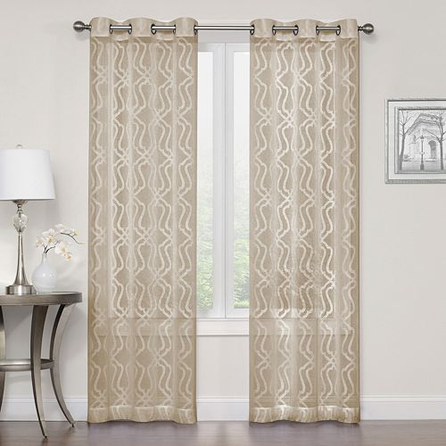SONOMA Goods For LifeTM 2 Pack Asbury Clipped Sheer Window Curtains