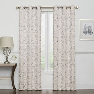 Sonoma Goods For Life? 2-pack Leaf Embroidery Window Curtains