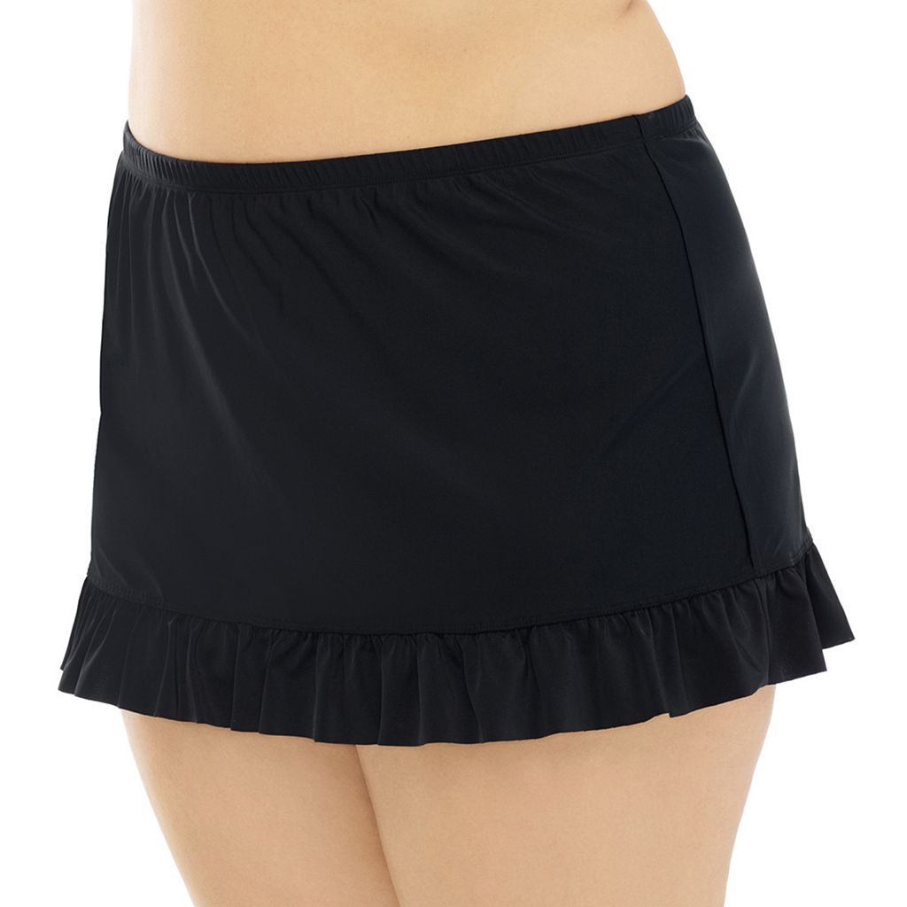 Juniors' Plus Size Costa Del Sol Ruffle Skirtini Bottoms