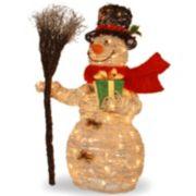 National Tree Company 35-in. Snowman & Broom Christmas Floor Decor