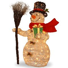 National Tree Company 35-in. Snowman & Broom Christmas Floor Decor