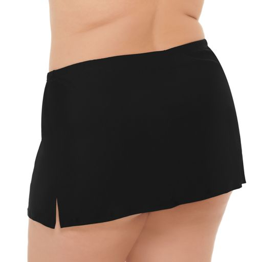 Plus Size Costa Del Sol Solid Swim Skirt