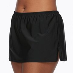 Plus Size Costa Del Sol Solid Swim Skirt